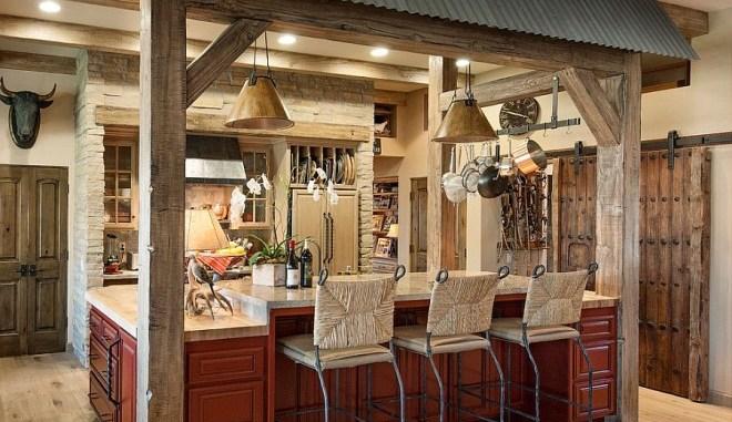 phòng bếp cho biệt thự cổ điển theo phong cách bắc âu