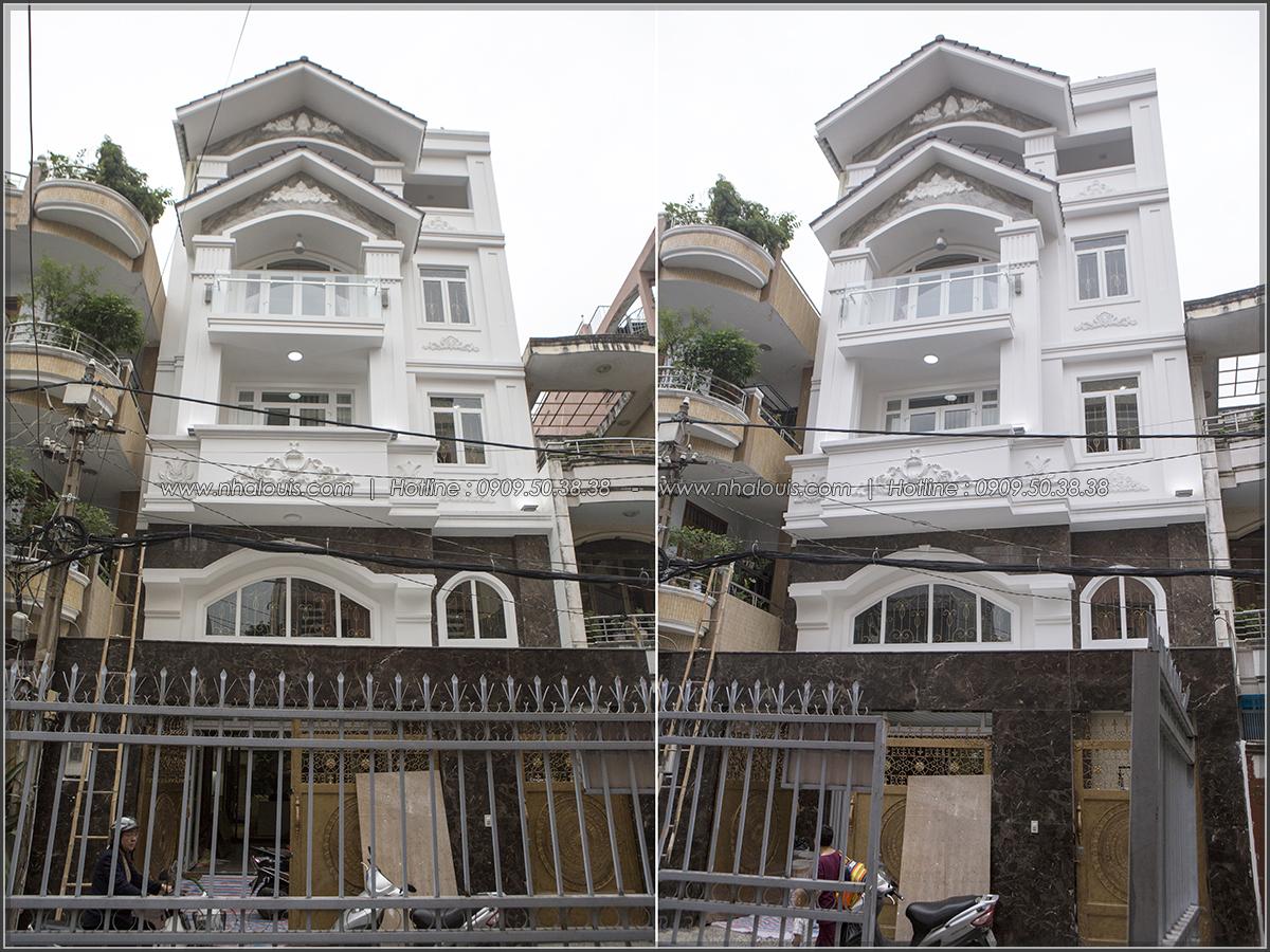 Thiết kế và thi công xây dựng biệt thự phố đẹp với hồ bơi xanh tại Tân Bình