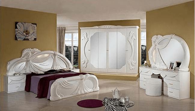 thiết kế mẫu phòng ngủ dành cho biệt thự cổ điển