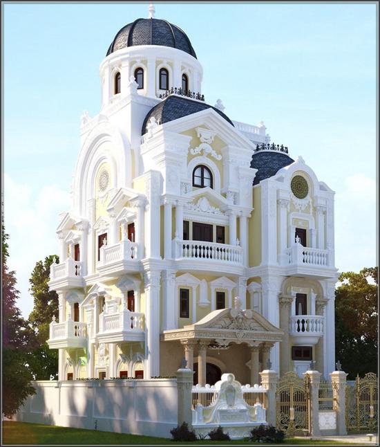Biệt thự trắng cổ điển ở Sóc Trăng đẹp nguy nga không thể rời mắt - 1