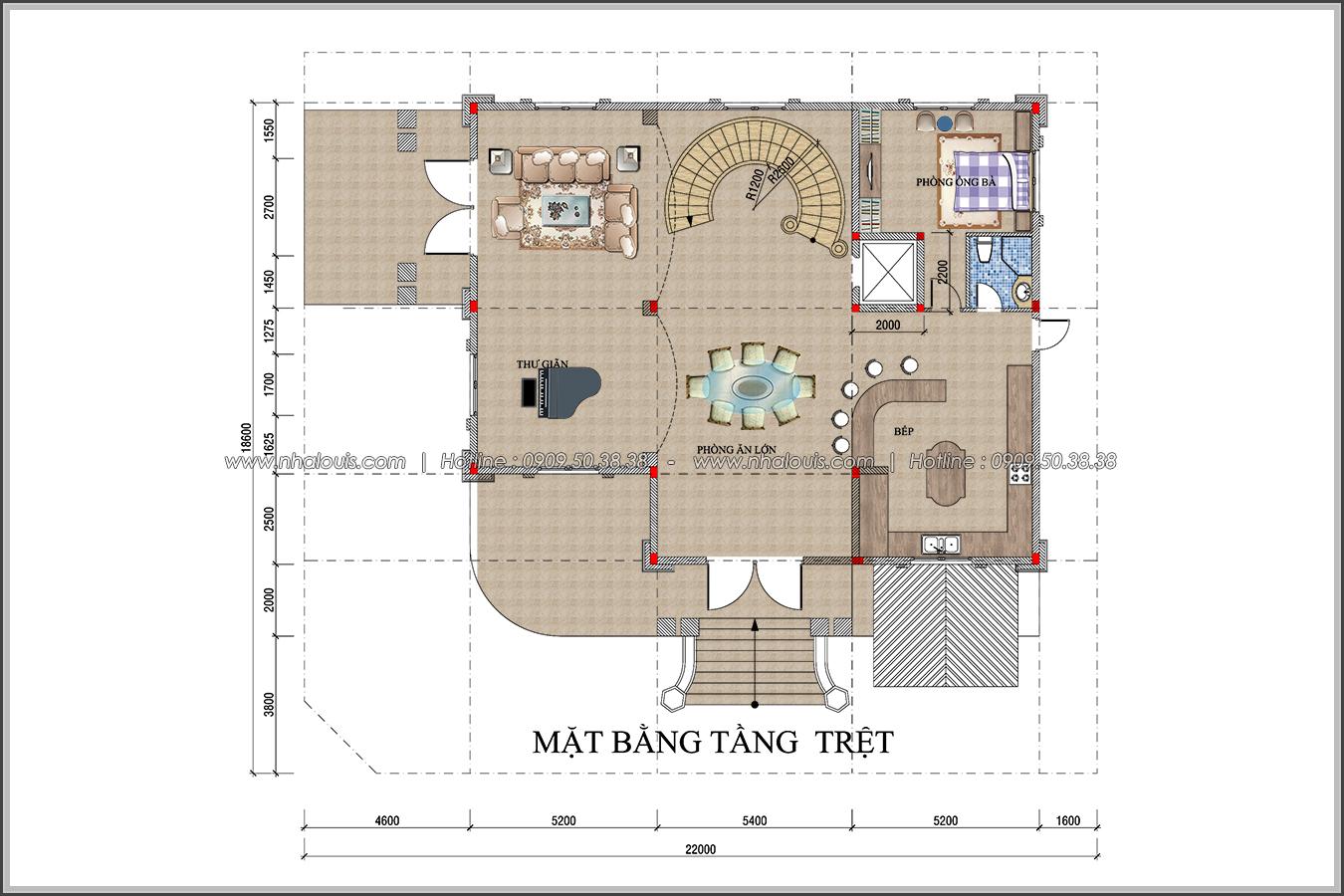 Đẳng cấp đích thực trong thiết kế biệt thự cổ điển 3 tầng tại Bình Tân - 5