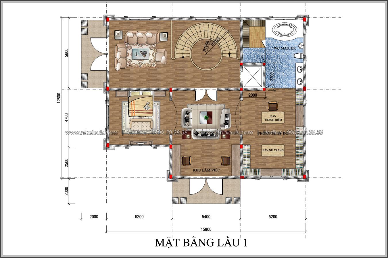 Đẳng cấp đích thực trong thiết kế biệt thự cổ điển 3 tầng tại Bình Tân - 6