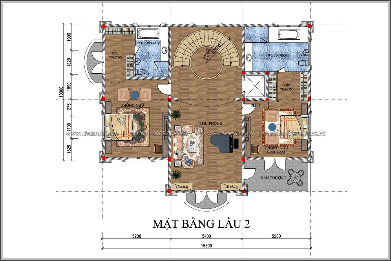 Đẳng cấp đích thực trong thiết kế biệt thự cổ điển 3 tầng tại Bình Tân - 7