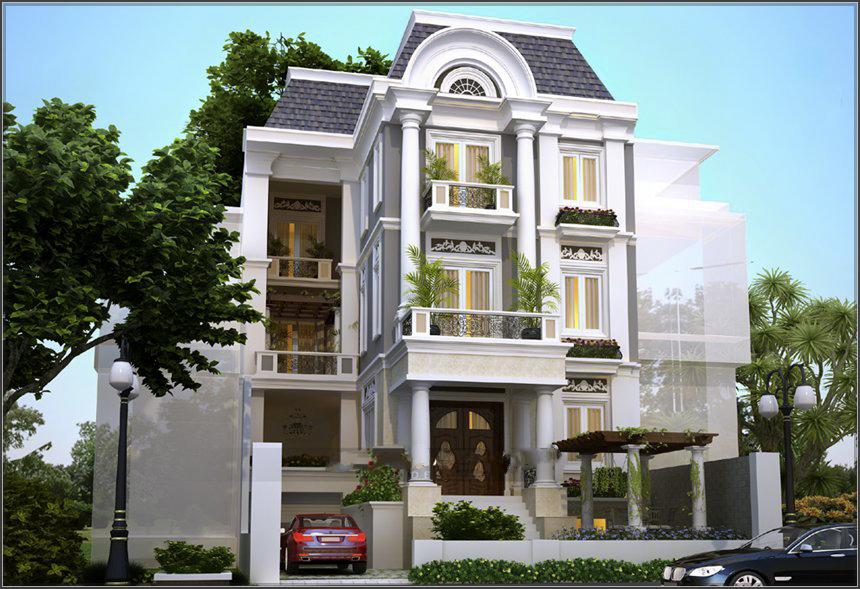 Mẫu thiết kế biệt thự cổ điển phong cách Đông Dương đẹp hút hồn - 1