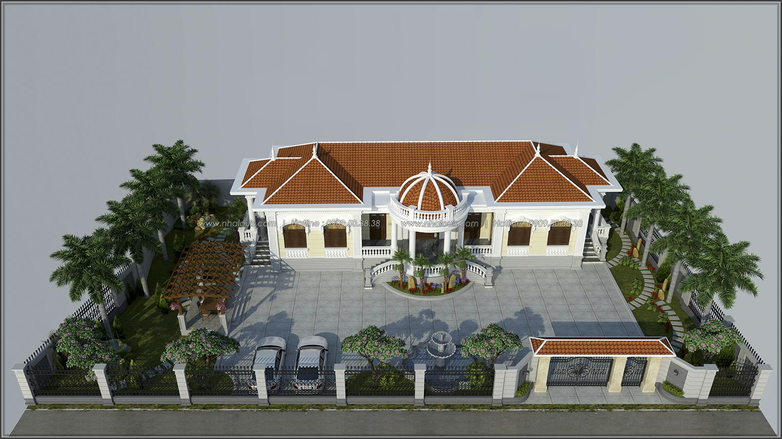 Mẫu thiết kế biệt thự kiểu Pháp đẹp đơn giản tại xứ dừa Bến Tre - 1