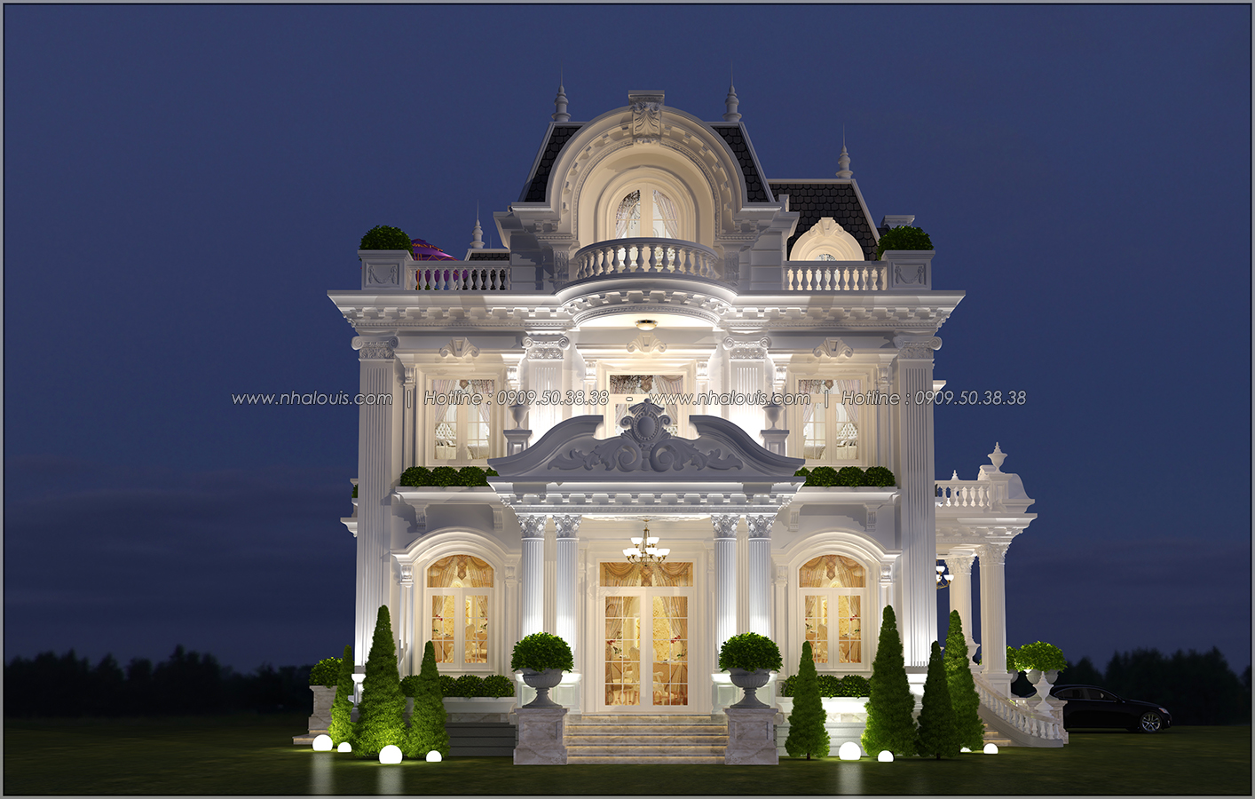 Mê mẩn với thiết kế biệt thự kiểu Pháp tại Biên Hòa đẹp kiêu sa, diễm lệ - 3