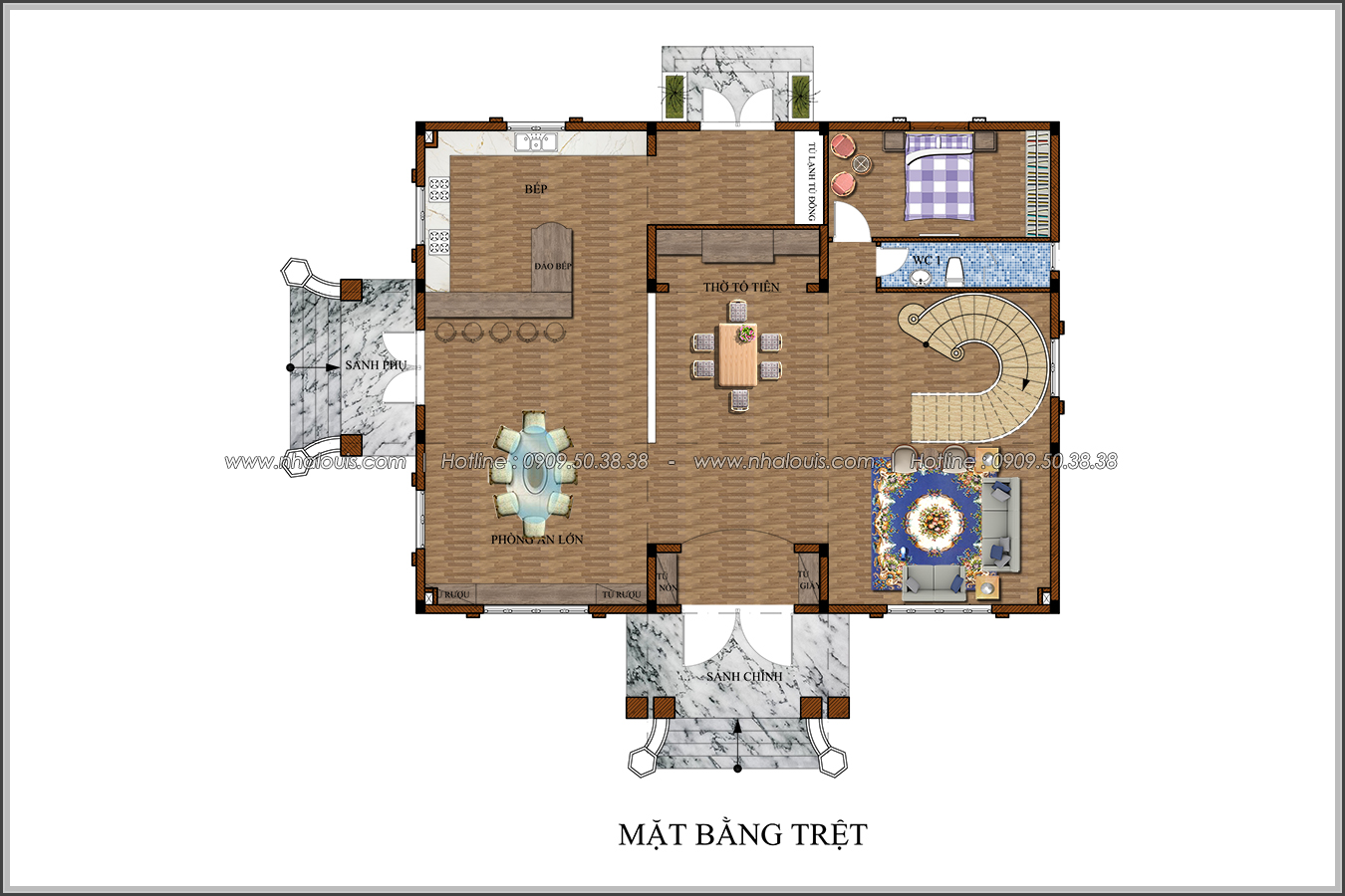Mê mẩn với thiết kế biệt thự kiểu Pháp tại Biên Hòa đẹp kiêu sa, diễm lệ - 5