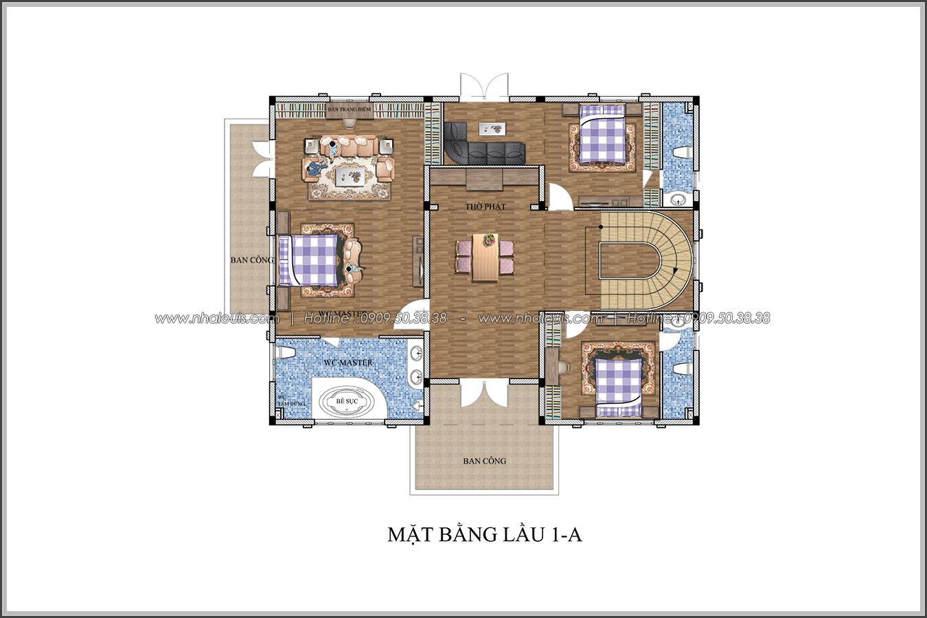 Mê mẩn với thiết kế biệt thự kiểu Pháp tại Biên Hòa đẹp kiêu sa, diễm lệ - 6