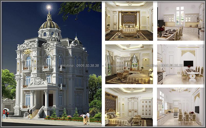 Ngỡ ngàng vẻ đẹp nao lòng với thiết kế biệt thự cổ điển ở Củ Chi - 1