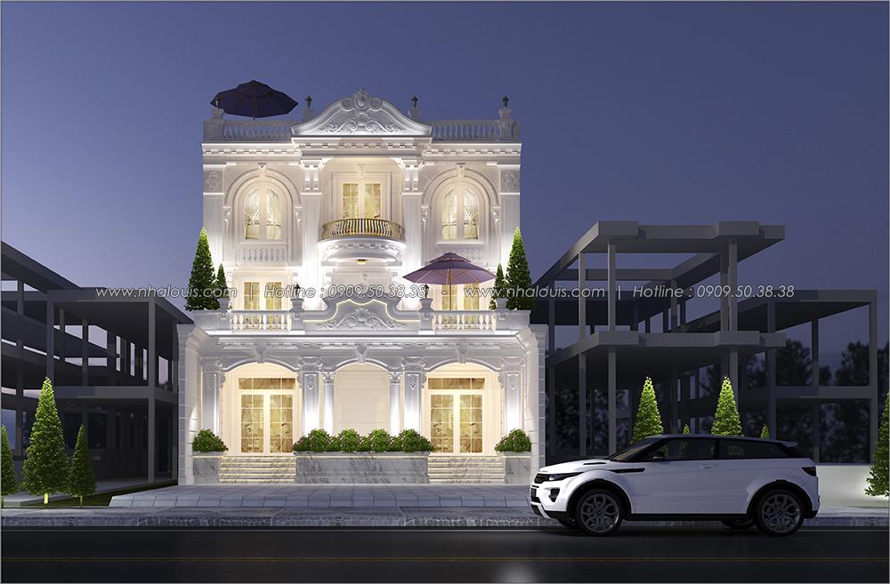 Thiết kế biệt thự cổ điển 3 tầng tại Đồng Nai vừa ở vừa kinh doanh