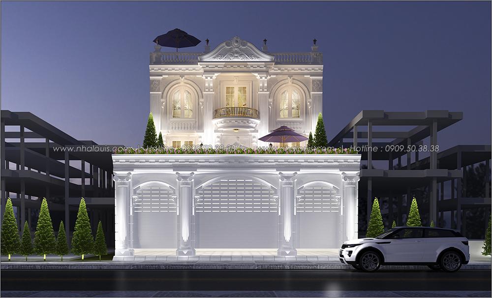 Thiết kế biệt thự cổ điển 3 tầng tại Đồng Nai vừa ở vừa kinh doanh - 2