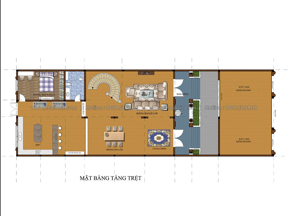 Thiết kế biệt thự cổ điển 3 tầng tại Đồng Nai vừa ở vừa kinh doanh - 3
