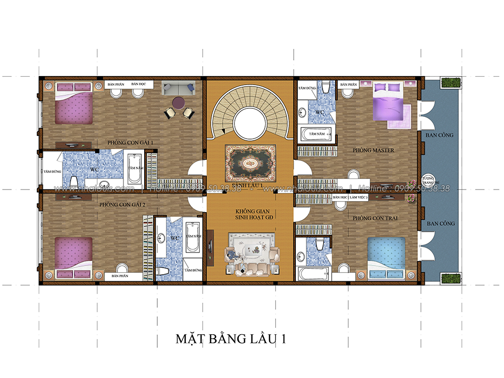 Thiết kế biệt thự cổ điển 3 tầng tại Đồng Nai vừa ở vừa kinh doanh - 4