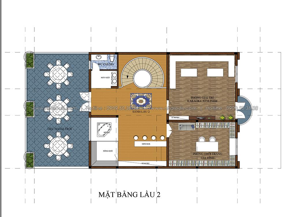 Thiết kế biệt thự cổ điển 3 tầng tại Đồng Nai vừa ở vừa kinh doanh - 5