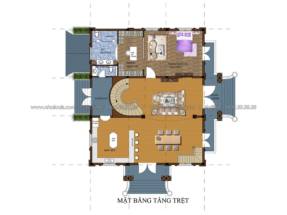Thiết kế biệt thự cổ điển có tầng hầm đẳng cấp vượt trội ở Bình Dương - 4