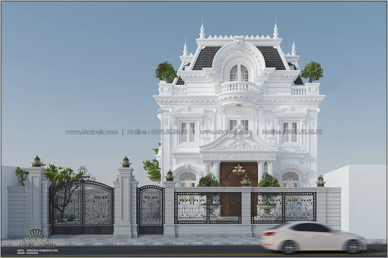 Thiết kế biệt thự cổ điển tại Sóc Trăng phong cách Châu Âu đẹp lộng lẫy