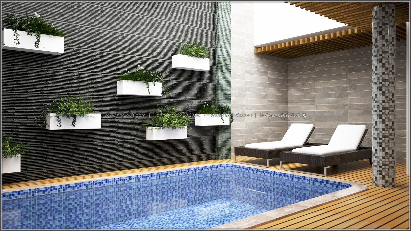Thiết kế biệt thự có hồ bơi trong nhà tại quận Tân Bình đẹp sang chảnh