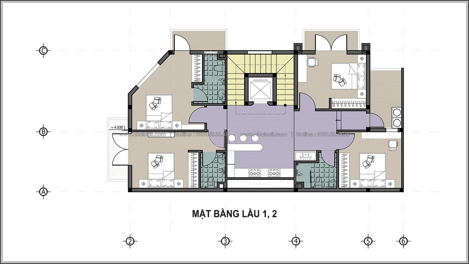 Thiết kế biệt thự tại Bình Dương theo phong cách cổ điển đẹp lộng lẫy - 6