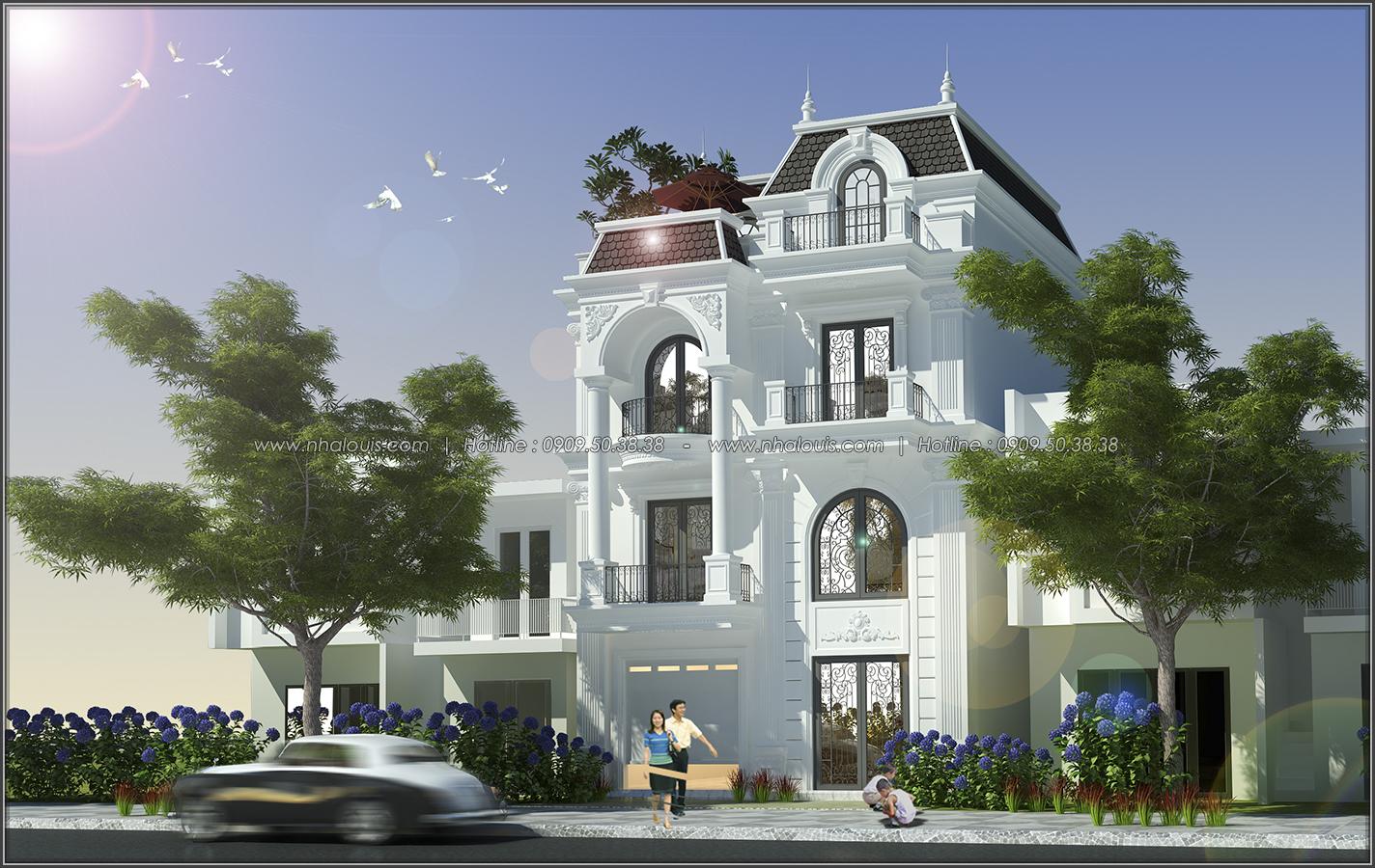 Thiết kế biệt thự tân cổ điển tại Đồng Nai đẹp không tì vết