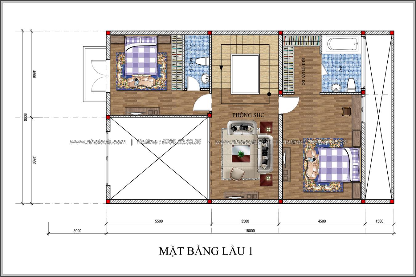 Thiết kế biệt thự tân cổ điển tại Đồng Nai đẹp không tì vết - 4