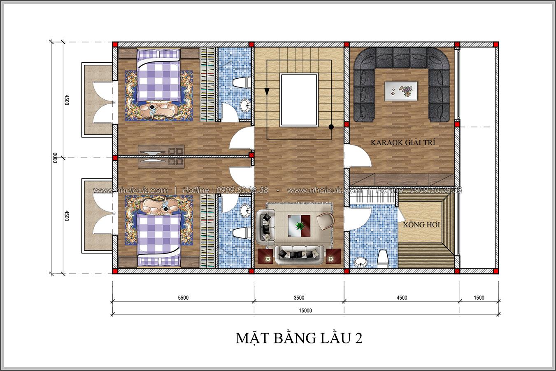Thiết kế biệt thự tân cổ điển tại Đồng Nai đẹp không tì vết - 5