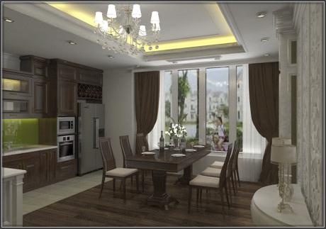 Thiết kế nội thất tân cổ điển cho biệt thự đẹp ấn tượng và đẳng cấp - 2