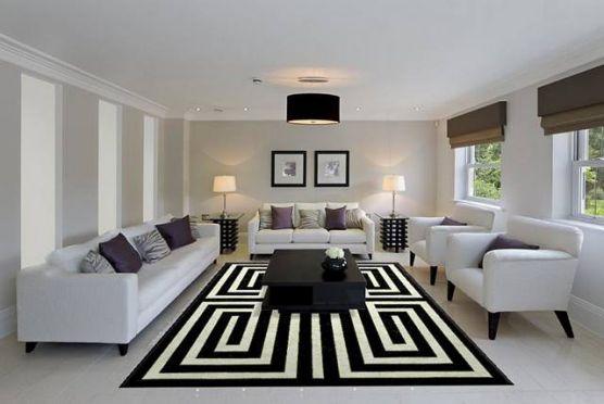 Mẫu thiết kế phòng khách màu trắng bừng sáng không gian nhà - 06