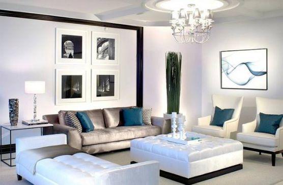 Mẫu thiết kế phòng khách màu trắng bừng sáng không gian nhà - 07
