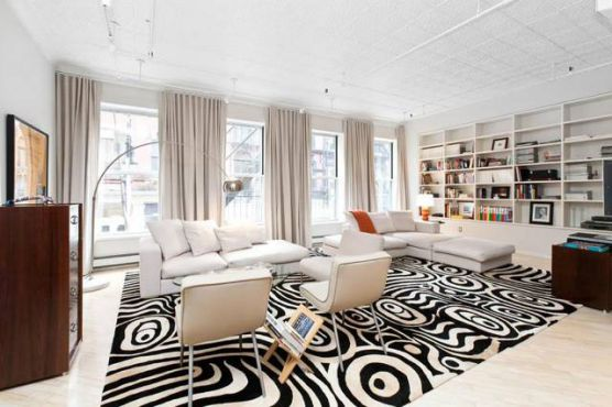 Mẫu thiết kế phòng khách màu trắng bừng sáng không gian nhà - 08