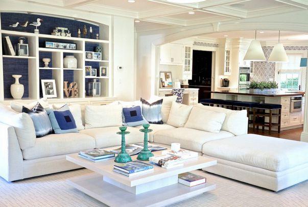 Phòng khách biệt thự theo phong cách Grasscloth đẹp trang nhã và tinh tế - 02