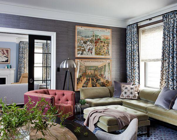 Phòng khách biệt thự theo phong cách Grasscloth đẹp trang nhã và tinh tế - 03