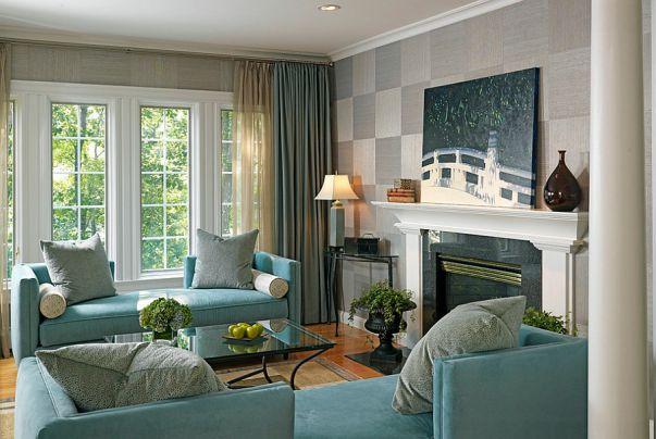 Phòng khách biệt thự theo phong cách Grasscloth đẹp trang nhã và tinh tế - 04