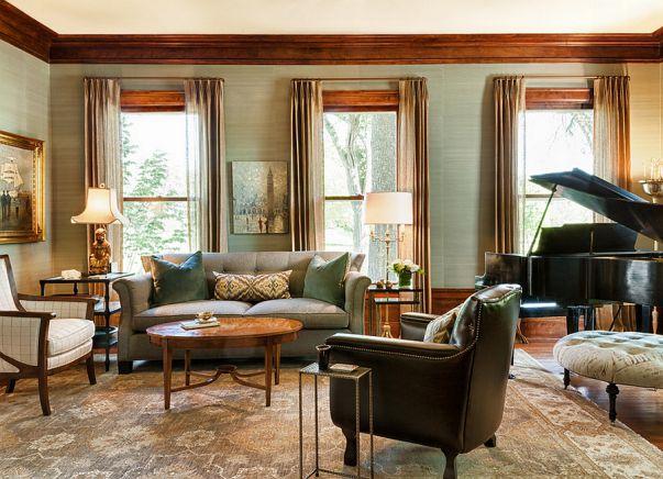 Phòng khách biệt thự theo phong cách Grasscloth đẹp trang nhã và tinh tế - 05