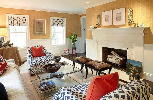 Phòng khách biệt thự theo phong cách Grasscloth đẹp trang nhã và tinh tế - 07