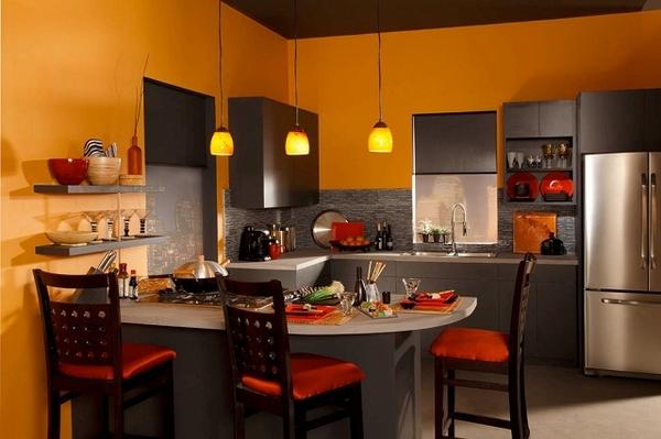 Thiết kế phòng bếp hiện đại cho biệt thự cùng những sắc màu độc đáo