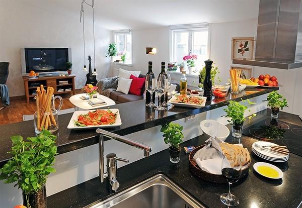 Thiết kế phòng bếp tươi mát với những điểm nhấn từ thiên nhiên - 03