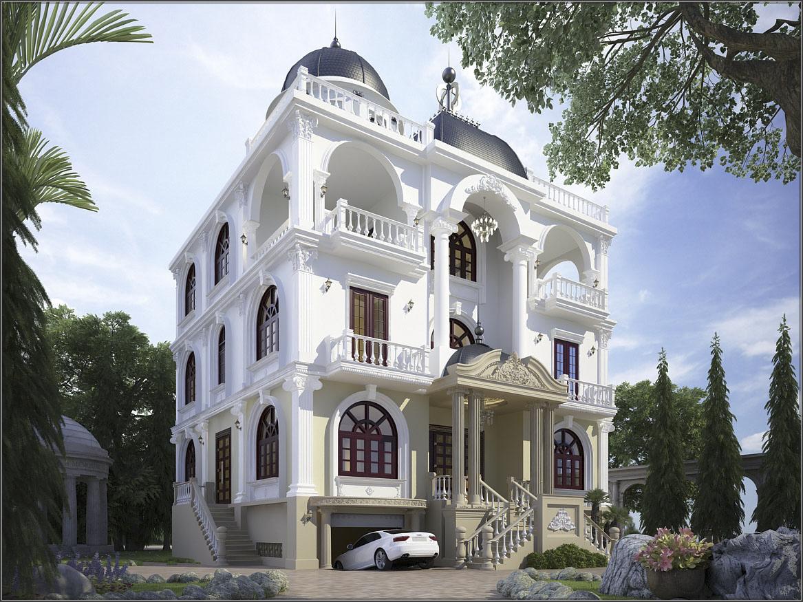 Biệt thự cổ điển Pháp xinh đẹp với thiết kế nội thất bên trong cực chất