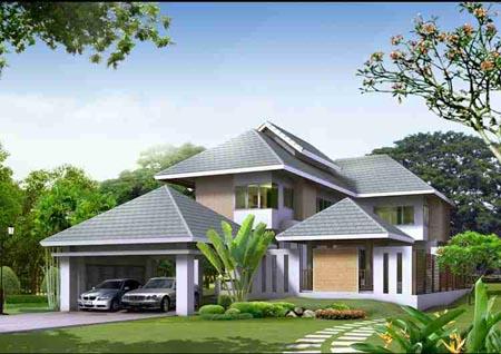 Biệt thự nhà vườn mái Thái khác biệt và độc đáo - 01