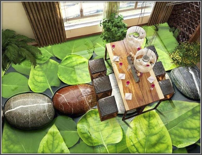 Mẫu phòng khách đẹp với công nghệ tranh 3D cực chất