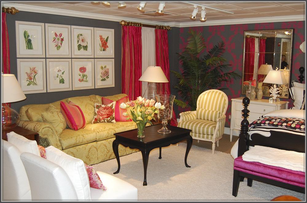 Phòng khách màu hồng xinh xắn vô tình gây thương nhớ