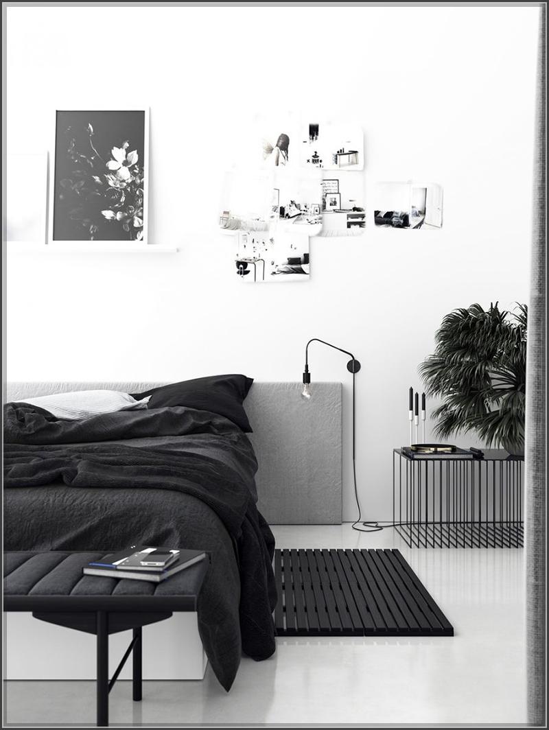 Phòng ngủ tông trắng đen đẹp lạ lùng cho biệt thự thêm phong cách
