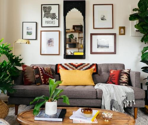 Tham khảo những mẫu phòng khách đẹp ngập sắc xanh