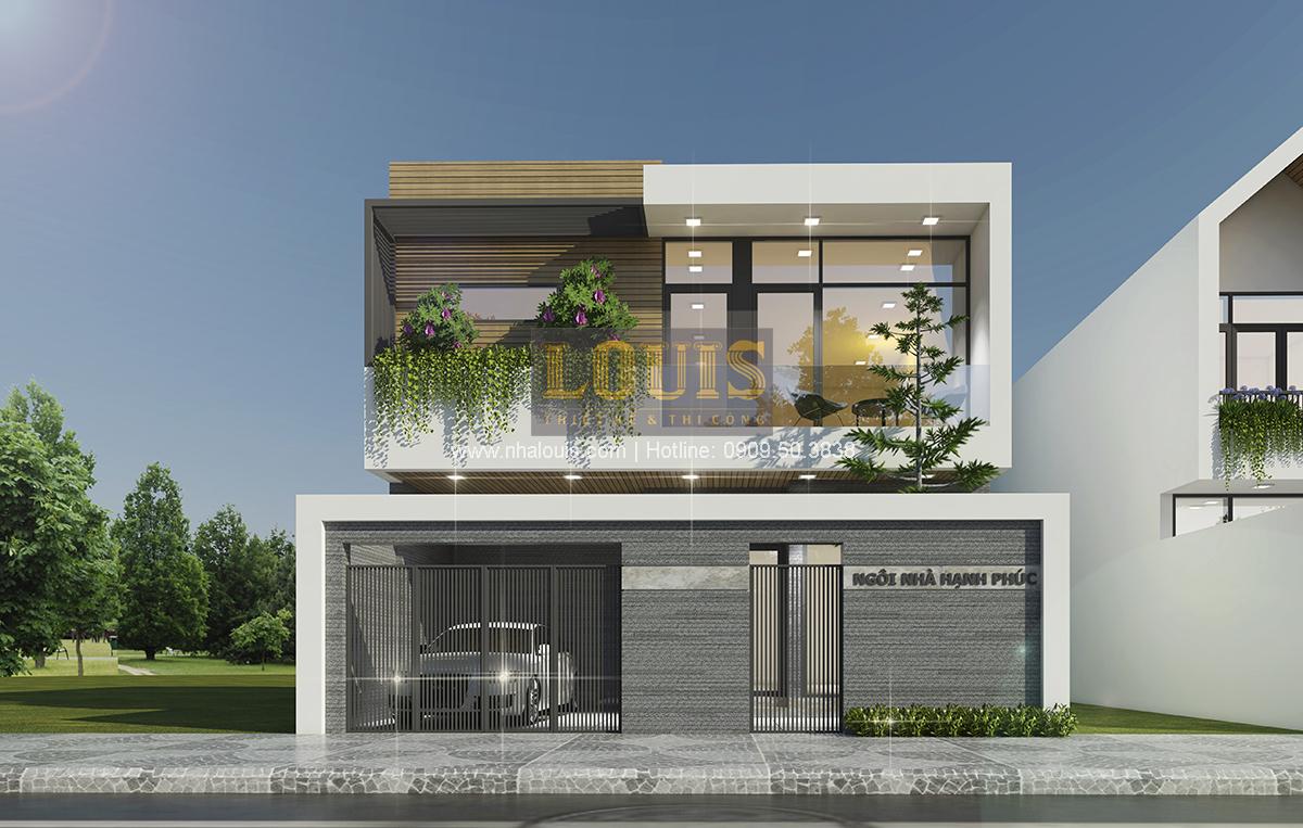 Thiết kế biệt thự mini 2 tầng tại Bình Dương phong cách hiện đại tinh tế - 01
