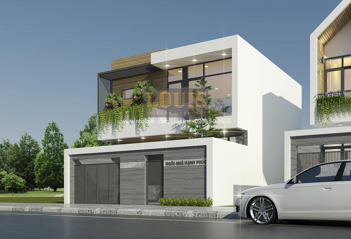 Thiết kế biệt thự mini 2 tầng tại Bình Dương phong cách hiện đại tinh tế - 02