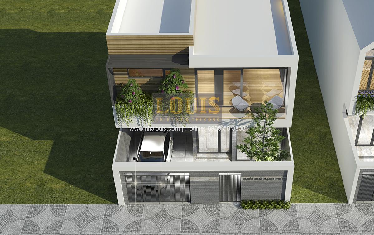 Thiết kế biệt thự mini 2 tầng tại Bình Dương phong cách hiện đại tinh tế - 03