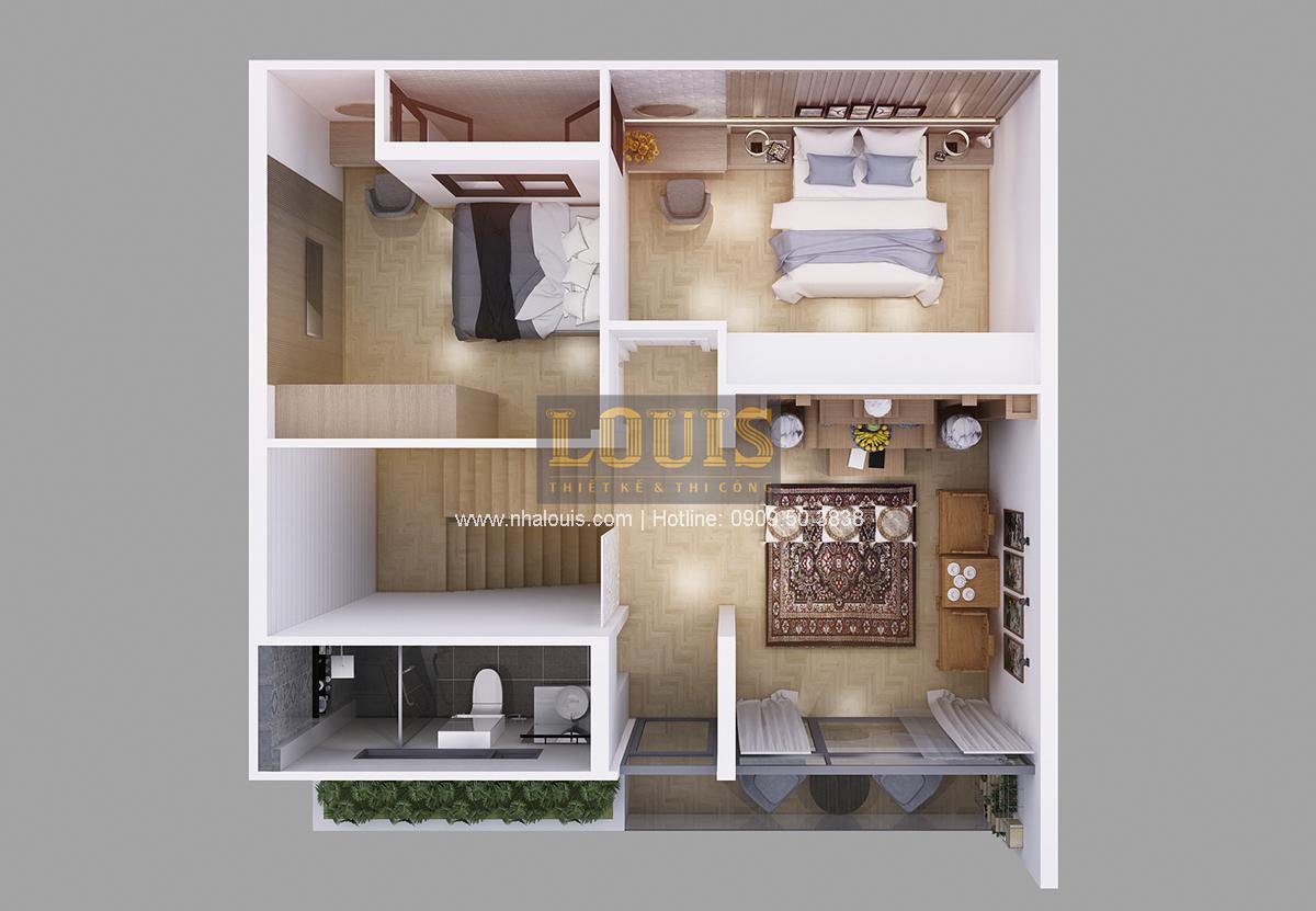 Thiết kế biệt thự mini 2 tầng tại Bình Dương phong cách hiện đại tinh tế - 04