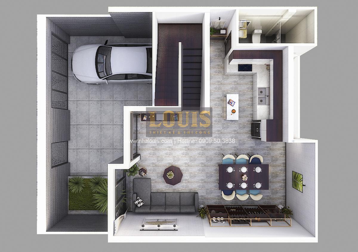 Thiết kế biệt thự mini 2 tầng tại Bình Dương phong cách hiện đại tinh tế - 05