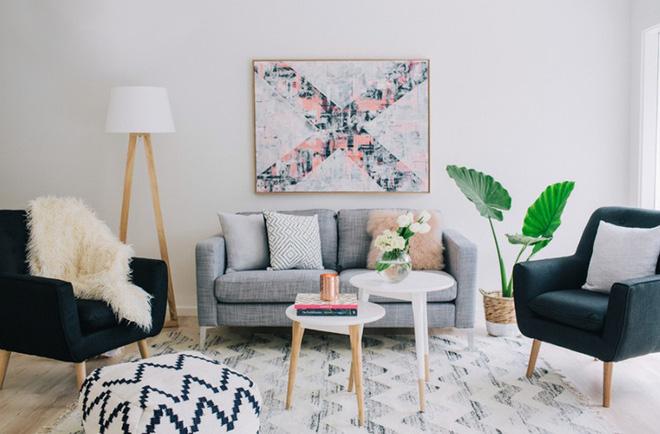 Phòng khách biệt thự theo đuổi phong cách Scandinavia đẹp mê
