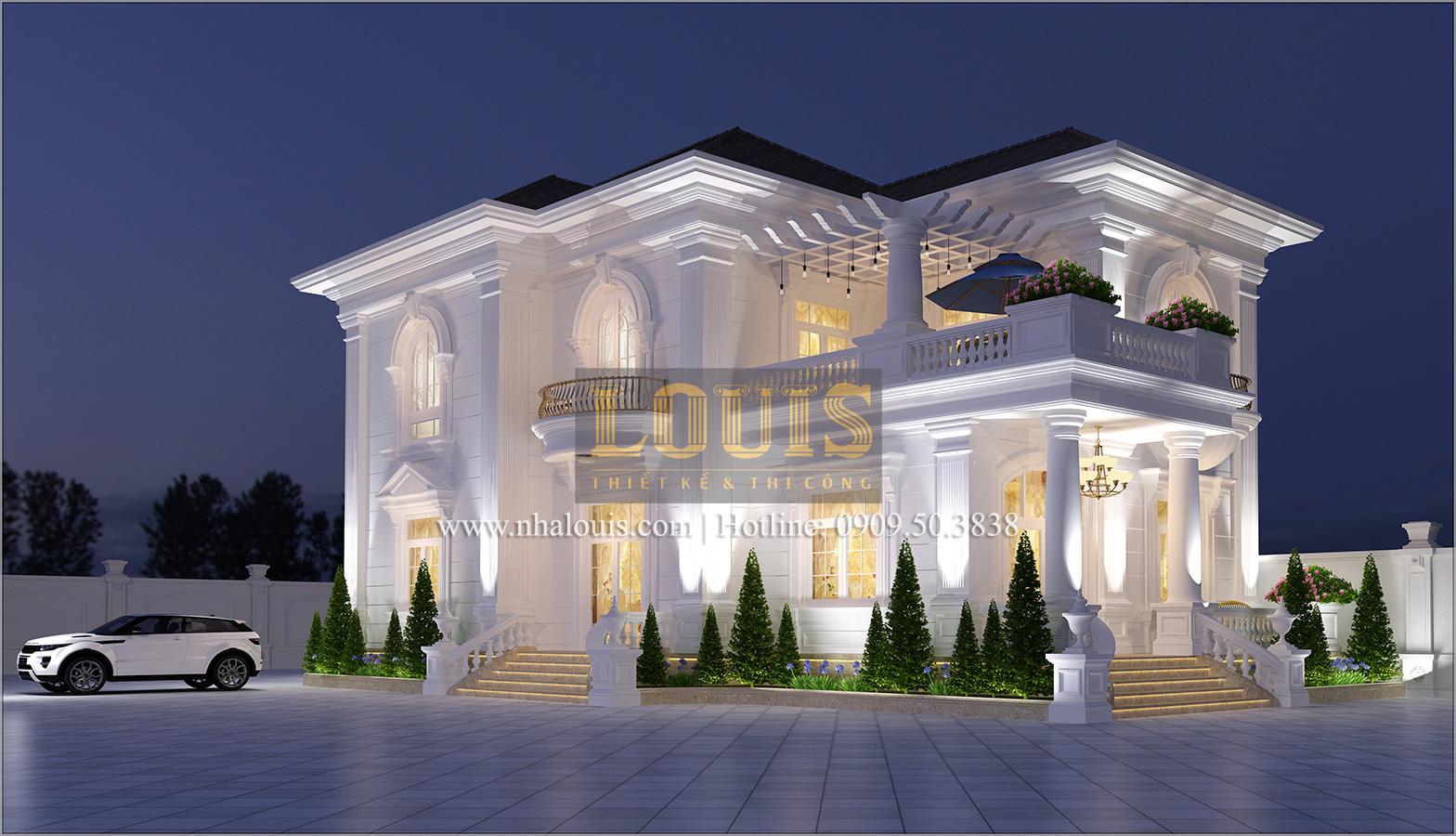 Thiết kế biệt thự cổ điển 2 tầng ở Bình Dương đẹp trang nhã và sang trọng - 02
