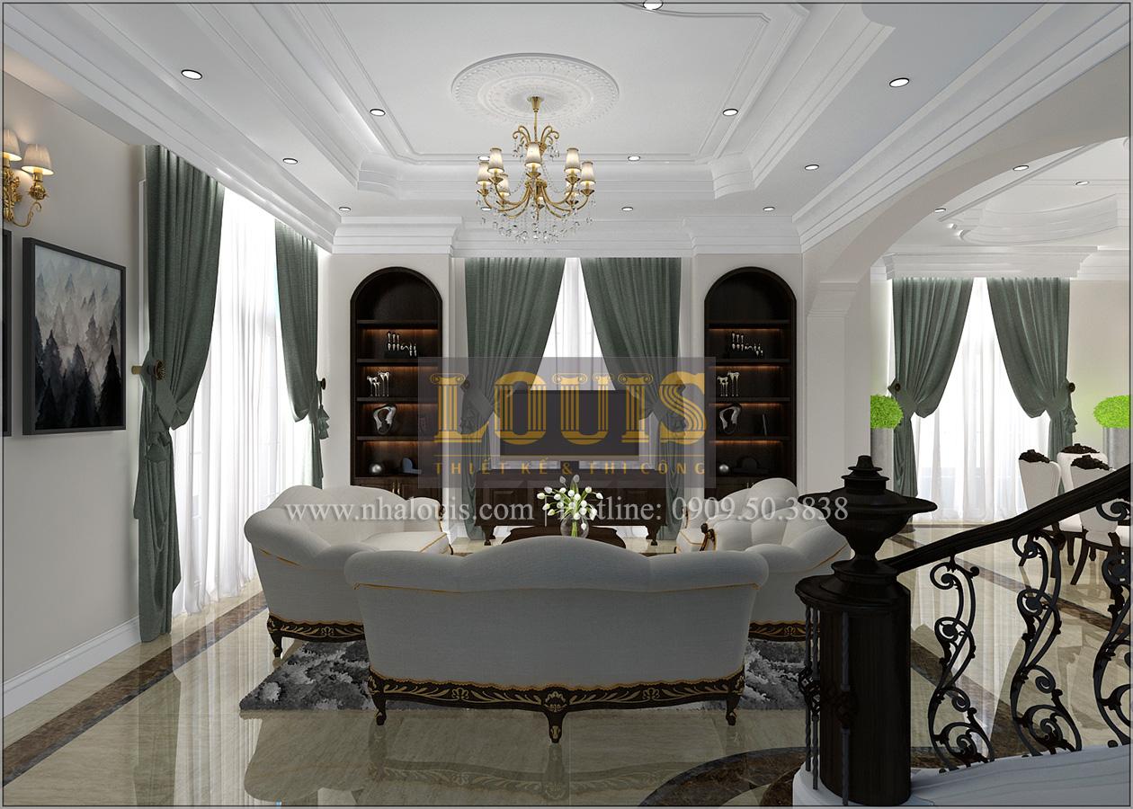 Thiết kế biệt thự cổ điển 2 tầng ở Bình Dương đẹp trang nhã và sang trọng - 10